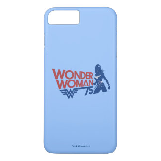 Wonder Woman 75th Anniversary Red & Blue Logo iPhone 8 Plus/7 Plus Case