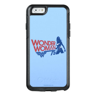 Wonder Woman 75th Anniversary Red & Blue Logo OtterBox iPhone 6/6s Case