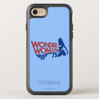 Wonder Woman 75th Anniversary Red & Blue Logo OtterBox Symmetry iPhone 7 Case