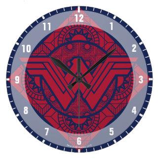 Wonder Woman Amazonian Symbol Large Clock