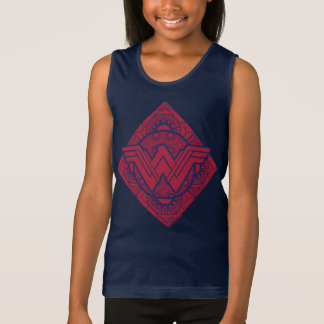 Wonder Woman Amazonian Symbol Tank Top