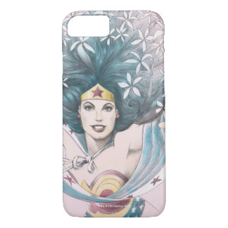 Wonder Woman and Flowers iPhone 8/7 Case