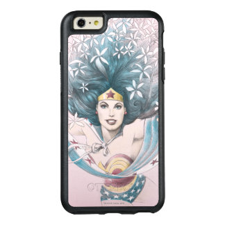 Wonder Woman and Flowers OtterBox iPhone 6/6s Plus Case