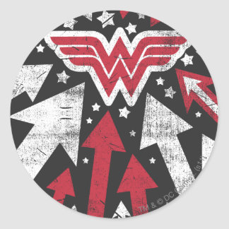 Wonder Woman Arrows Classic Round Sticker
