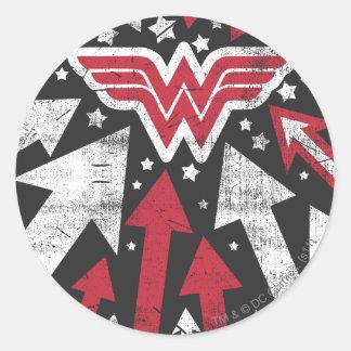 Wonder Woman Arrows Round Sticker