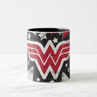 Wonder Woman Arrows Two-Tone Coffee Mug