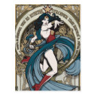 Wonder Woman Art Nouveau Panel Postcard