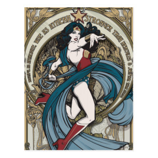 Wonder Woman Art Nouveau Panel Postcard