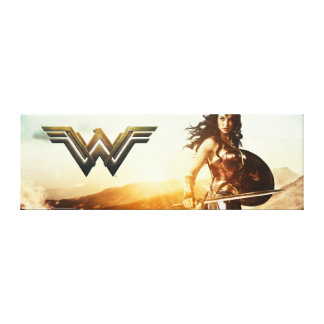 Wonder Woman At Sunset Canvas Print