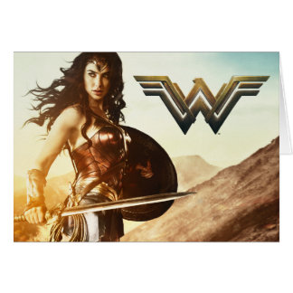 Wonder Woman At Sunset Card