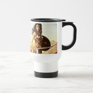 Wonder Woman At Sunset Travel Mug