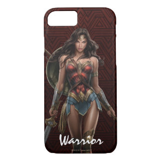 Wonder Woman Battle-Ready Comic Art iPhone 8/7 Case