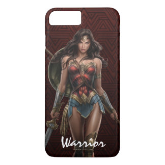 Wonder Woman Battle-Ready Comic Art iPhone 8 Plus/7 Plus Case