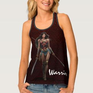 Wonder Woman Battle-Ready Comic Art Tank Top