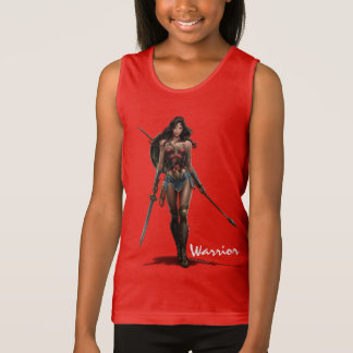 Wonder Woman Battle-Ready Comic Art Tank Top