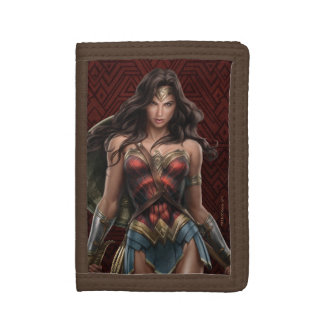 Wonder Woman Battle-Ready Comic Art Tri-fold Wallets