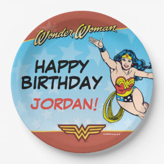Wonder Woman Birthday 9 Inch Paper Plate