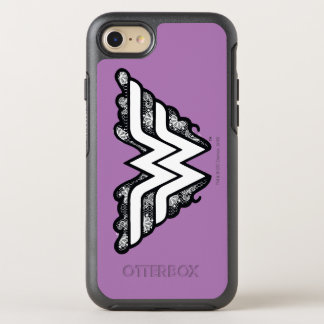 Wonder Woman Black Lace Logo OtterBox Symmetry iPhone 8/7 Case