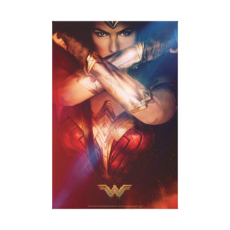 Wonder Woman Blocking With Bracelets Canvas Print