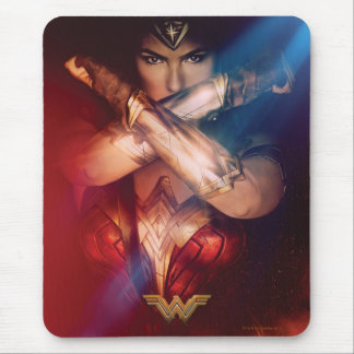 Wonder Woman Blocking With Bracelets Mouse Pad