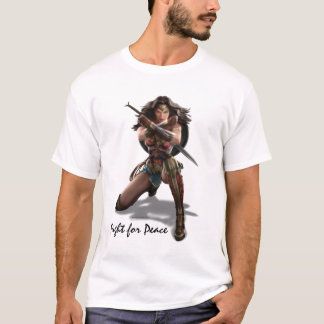 Wonder Woman Blocking With Bracelets T-Shirt