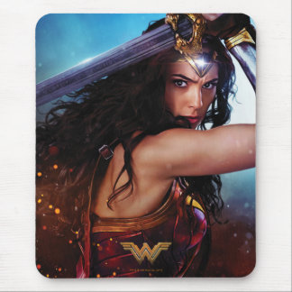 Wonder Woman Blocking With Sword Mouse Pad