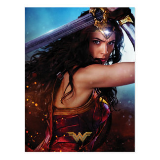 Wonder Woman Blocking With Sword Postcard