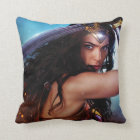 Wonder Woman Blocking With Sword Throw Pillow