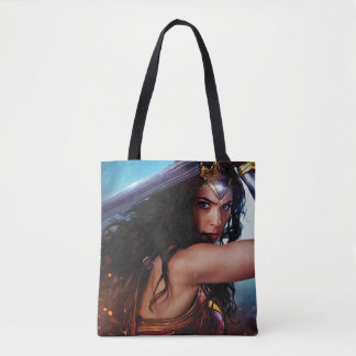 Wonder Woman Blocking With Sword Tote Bag