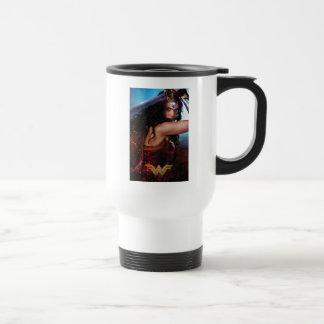 Wonder Woman Blocking With Sword Travel Mug