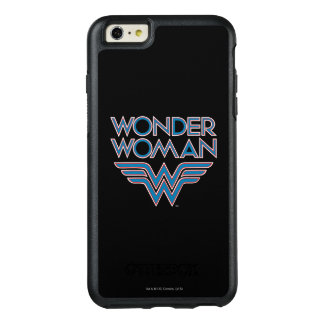 Wonder Woman Blue and Red Retro Logo OtterBox iPhone 6/6s Plus Case