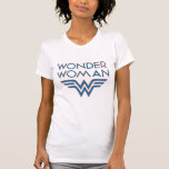 Wonder Woman Blue and Red Retro Logo Tee Shirts