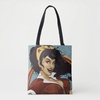Wonder Woman Bombshell Name Graphic Tote Bag
