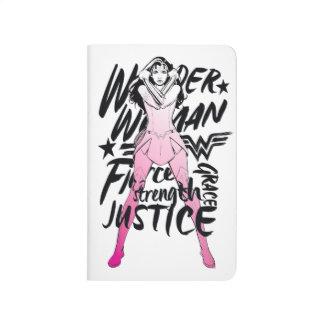 Wonder Woman Brush Typography Art Journal