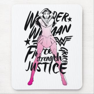 Wonder Woman Brush Typography Art Mouse Pad