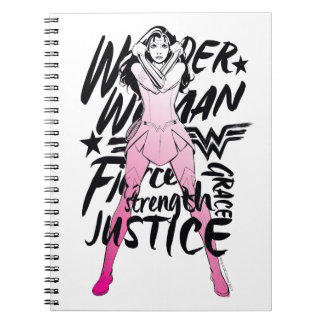 Wonder Woman Brush Typography Art Notebook