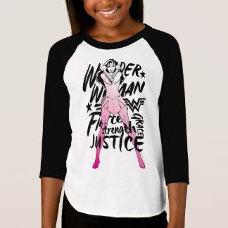 Wonder Woman Brush Typography Art T-Shirt