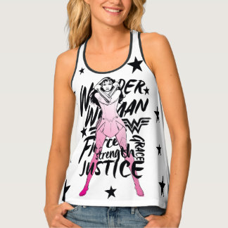 Wonder Woman Brush Typography Art Tank Top