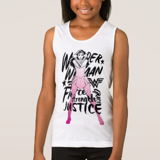 Wonder Woman Brush Typography Art Tank Top