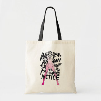 Wonder Woman Brush Typography Art Tote Bag