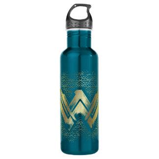 Wonder Woman Brushed Gold Symbol 710 Ml Water Bottle