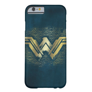 Wonder Woman Brushed Gold Symbol Barely There iPhone 6 Case
