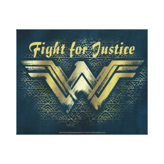 Wonder Woman Brushed Gold Symbol Canvas Print
