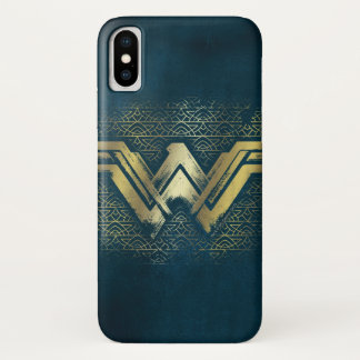 Wonder Woman Brushed Gold Symbol Case-Mate iPhone Case