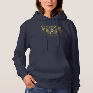 Wonder Woman Brushed Gold Symbol Hoodie
