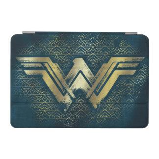 Wonder Woman Brushed Gold Symbol iPad Mini Cover