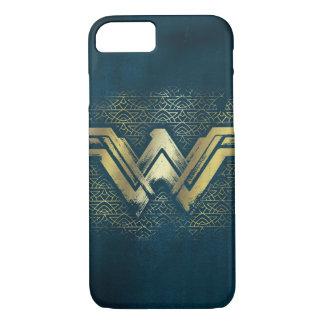 Wonder Woman Brushed Gold Symbol iPhone 8/7 Case