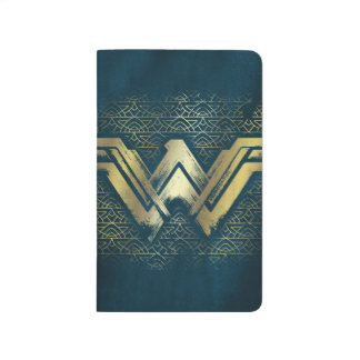 Wonder Woman Brushed Gold Symbol Journal