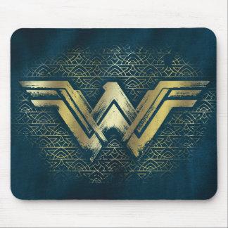 Wonder Woman Brushed Gold Symbol Mouse Pad