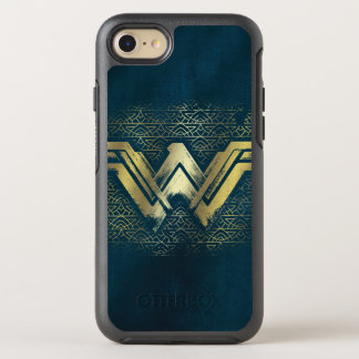Wonder Woman Brushed Gold Symbol OtterBox Symmetry iPhone 8/7 Case